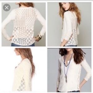 Free People l Patches Of Lace Henley